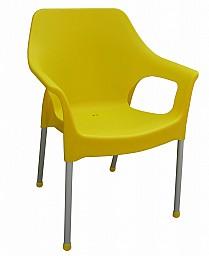 Plastová zahradní židle URBAN AL/PP Žlutá