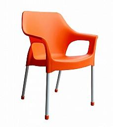 Plastová zahradní židle URBAN AL/PP Oranžová