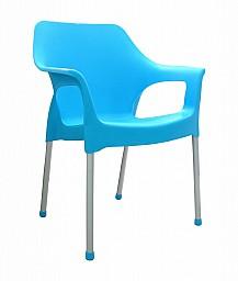 Plastová zahradní židle URBAN AL/PP Tyrkysová