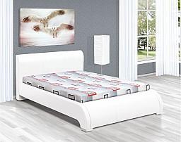 Manželská postel DUNAJ 200x160 vč. roštu, matrace   eco bílá/vzor